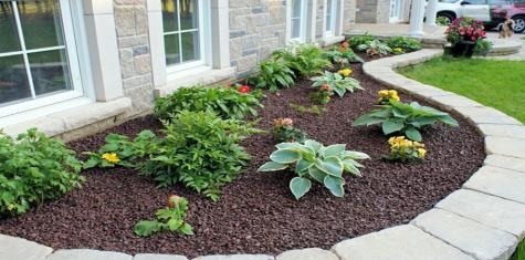 landscape brown Mulch